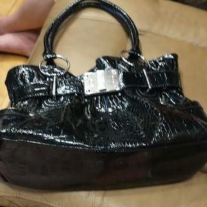 Le Chateau Faux Leather Crocodile Shoulder Bag